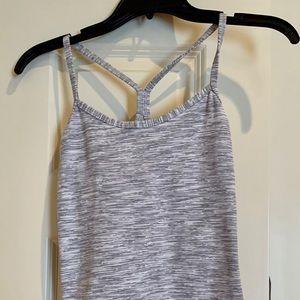 lululemon athletica Tops - Lululemon grey and white horizontal stripe tank